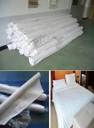 wholesale plain white cotton fabric for bed sheet pillow case