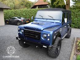 land rover defender 110 convertible blue marlin the landrovers