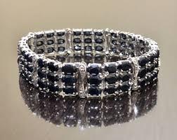 blue sapphire sterling silver bracelet images Art deco diamond bracelet 14k white gold with platinum top jpg