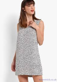 dorothy perkins ivory petite petite heart print shift dress