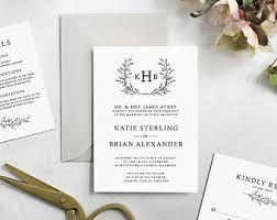 diy wedding invitations templates diy wedding invites etsy