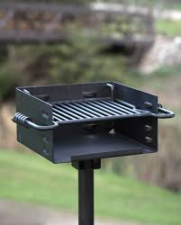 titan single post park style grill charcoal bbq outdoor heavy duty
