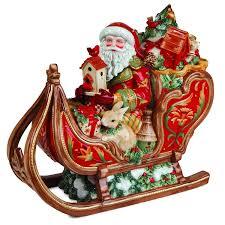 fitz and floyd bellacara santa sleigh cookie jar