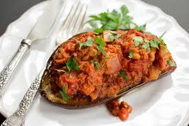 eggplant stuffed with lentils u0026 harissa