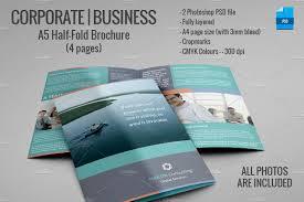 a5 half fold brochure 4 pages brochure templates creative market