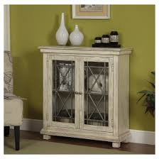 Glass Door Storage Cabinet Storage Cabinet Two Glass Door Ivory Christopher Knight Home