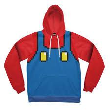 pixel mario hoodie