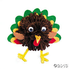 pom pom turkey craft kit trading story time