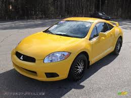 mitsubishi yellow 2009 mitsubishi eclipse gs coupe in solar satin yellow 020440
