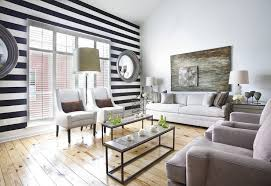 Black And White Striped Bedroom Curtains Black And White Striped Wall Transitional Living Room Ty