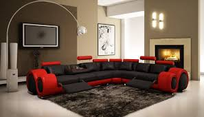 living room distressed leather sectional full grain sofa