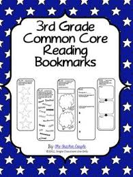 3rd grade common core reading bookmarks by the teacher couple tpt