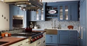 blue kitchen cabinet design blue kitchen cabinets design trends premium psd vector