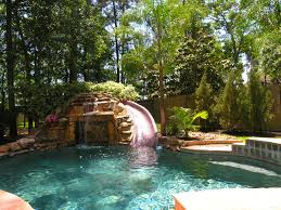 waterfalls for home decor pool waterfall and slide pools awesome swimming with pictures