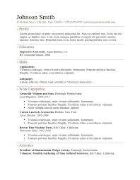 Sample Resume Templates Word Sample Resume Format Images Free Resume Template Word Resume