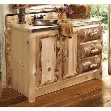 aspen log bathroom vanity 30 inch
