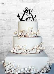 anchor wedding cake topper 6 personalized custom anchor wedding initials by coralmintdesign