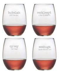 our gift pick of the day yiddish wineglasses rue now