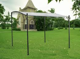 Gazebo With Awning Metal Wall Gazebo Awning Canopy Pergola Shade Marquee Shelter Door