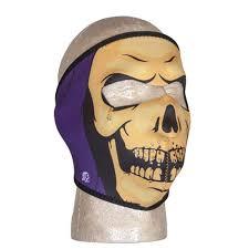 grim reaper death neoprene full face halloween costume winter