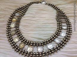 coin jewelry necklace images The antique silver jaipur coin necklace ko jewellery jpg
