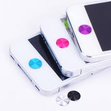 Iphone Home Button Decoration Class Cpiral Metal Home Buttons Stickers For Iphone Ipad Air Mini