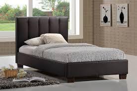 Single Leather Bed Frame Limelight Pulsar Brown 3ft Single Faux Leather Bed Frame By