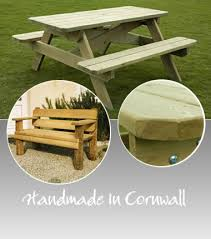 Handmade Wooden Outdoor Furniture by Cornwall Garden Furniture Timber U0026 Wood Garden Furniture