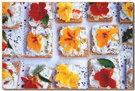 organic edible flowers organic edible flower canapés