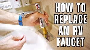 how to replace an rv bathroom faucet youtube