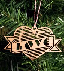 peace love u0026 merry christmas wood holiday ornaments home decor
