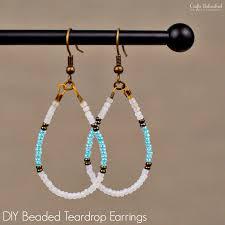 earrings diy diy beaded earrings teardrop tutorial crafts unleashed