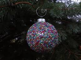 hardly seed bead ornament