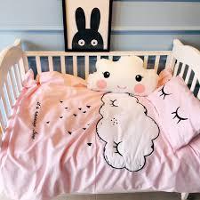 Cloud Crib Bedding 2016 Winter New Baby Crib Bedding Set Cloud Embroidery Eyelash