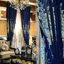 Peacock Blue Sheer Curtains Peacock Blue Sheer Curtains Peacock Color Drapes Peacock Color