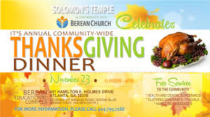 annual community wide thanksgiving dinner berean church