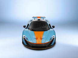 gulf oil logo one off mclaren p1 with classic gulf oil racing livery is