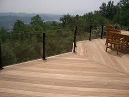 deck glass custom deck railing glass for deck rails design