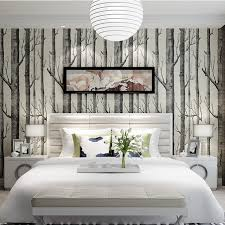 white tree wall mural online white tree wall mural for sale wholesale birch tree wallpaper roll non woven wood pattern wall paper wallcovering mural living room bedroom decor calssic black white