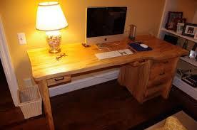 Solid Wood Desk Handmade Solid Wood Slab Desk By Jkb Design Custommade Com