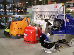 cleaning robots db hosts smart scrubber robot cleaning competition railway gazette