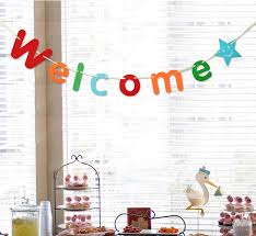baby shower stores 3m welcome letters garland colorful paper letters banner with ribbon
