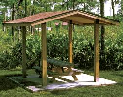 Wood Gazebo Design by Wood Single Roof Savannah Rectangle Pavilions Pavilions By