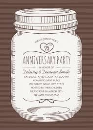 mason jar 25th wedding anniversary invitations u2013 vintage country cards