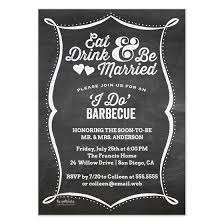 eat drink and be married invitations chalkboard eat drink be married i do barbecue invitations