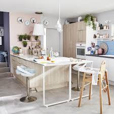 cuisine chez leroy merlin meuble de cuisine décor bois delinia nordik leroy merlin