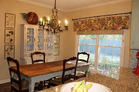 Dining Room Display Cabinet Interior Fabric Window Valance Styles With Rectangle Dining Table