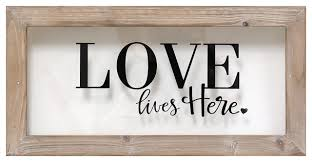 decor signs lives here framed farmhouse novelty signs by