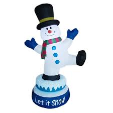 Inflatable Outdoor Christmas Decorating Small Baby Snowman by The Holiday Aisle Christmas Animated Inflatable Snowman U0026 Reviews