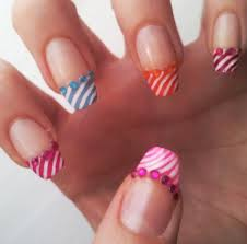summer french manicure nail art design tutorial youtube